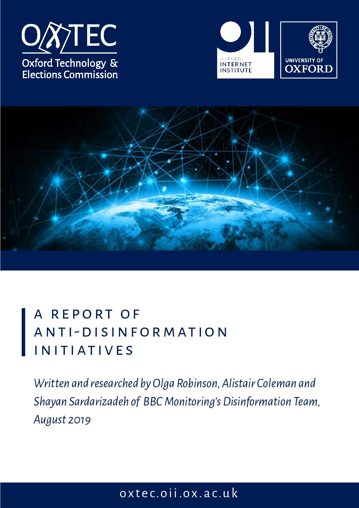 A Report of Anti-Disinformation Initiatives - Cover