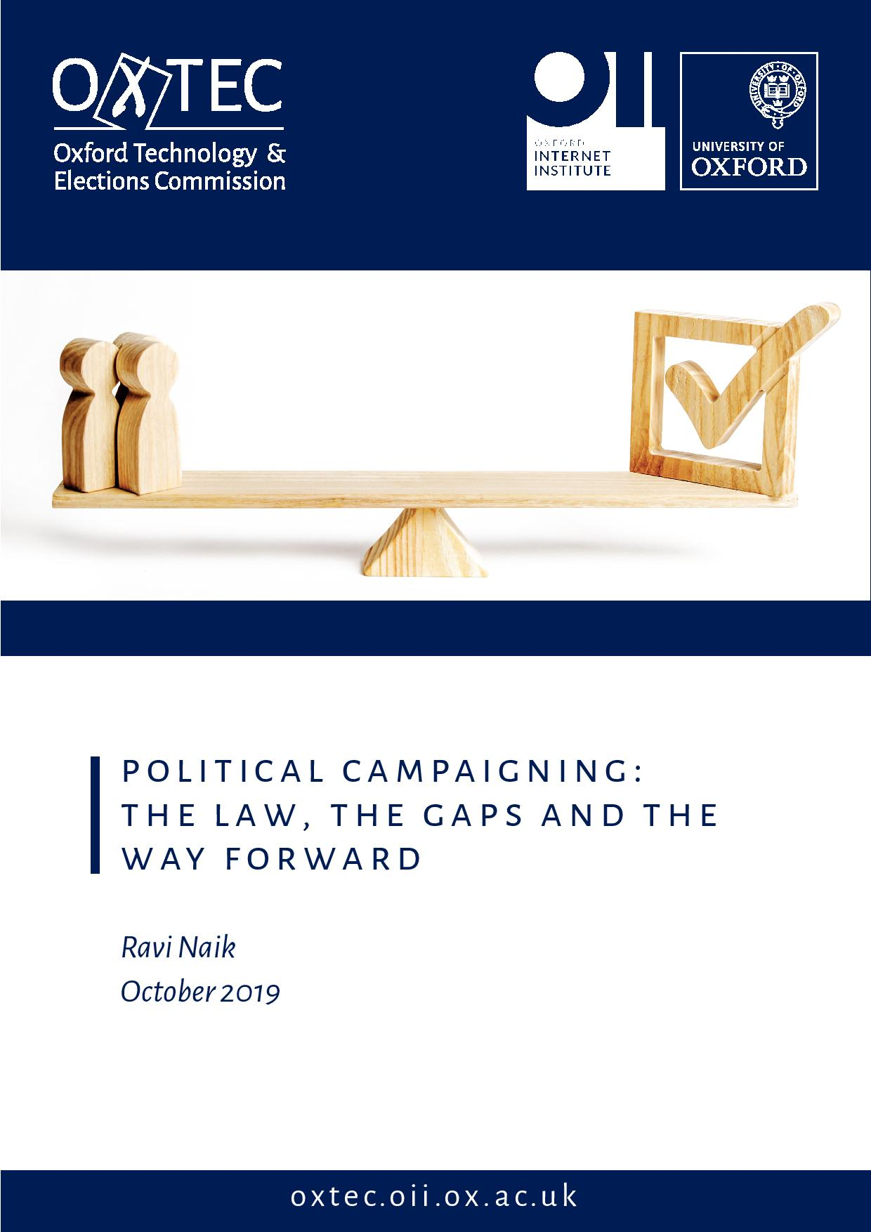 Political Campaigning: the Law, the Gaps and the Way Forward